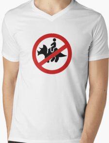 No Dinosaurs Mens V-Neck T-Shirt