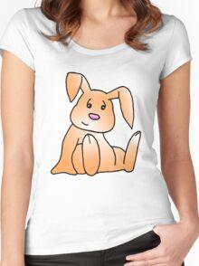 Orange Bunny Rabbit Women's Fitted Scoop T-Shirt