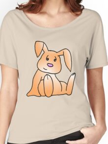 Orange Bunny Rabbit Women's Relaxed Fit T-Shirt