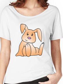 Orange Bunny Rabbit Women's Relaxed Fit T-Shirt