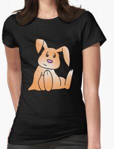 Orange Bunny Rabbit Womens Fitted T-Shirt