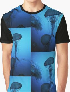 Portrait of a Jellyfish- Blue Graphic T-Shirt