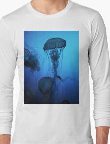 Portrait of a Jellyfish- Blue Long Sleeve T-Shirt