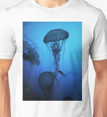 Portrait of a Jellyfish- Blue Unisex T-Shirt
