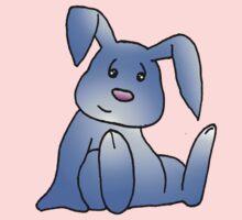 Blue Bunny Rabbit Kids Tee