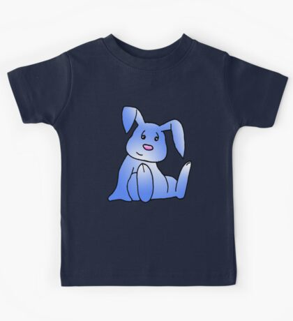 Blue Bunny Rabbit Kids Tee