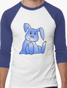 Blue Bunny Rabbit Men's Baseball ¾ T-Shirt