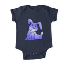 Lavender Bunny Rabbit One Piece - Short Sleeve