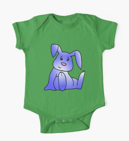 Lavender Bunny Rabbit One Piece - Short Sleeve