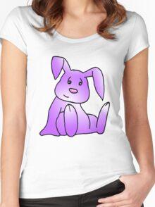 Magenta Bunny Rabbit Women's Fitted Scoop T-Shirt