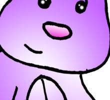 Magenta Bunny Rabbit Sticker