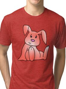 Red Bunny Rabbit Tri-blend T-Shirt