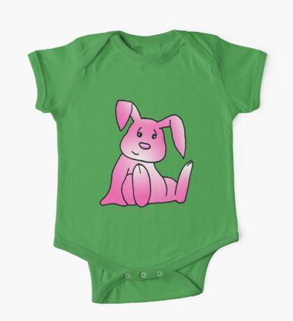 Pink Bunny Rabbit One Piece - Short Sleeve