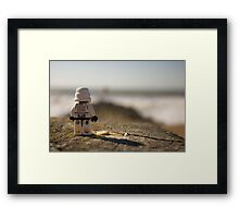 Plastic floats right? Framed Print