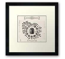 Doctor Who Companion Chart ! Framed Print