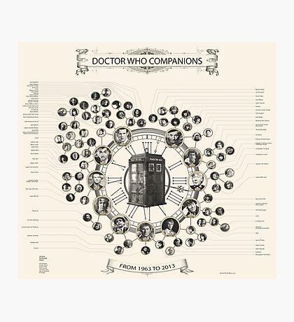 Doctor Who Companion Chart ! Photographic Print