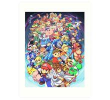Super Smash Club of Nintendo Players  Art Print
