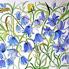 bluebells and lavender 5 7 by Gea Austen