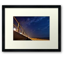 Hastings Beach at Night Framed Print