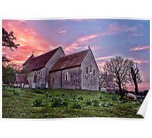 Bilsington Church At Sunset Poster