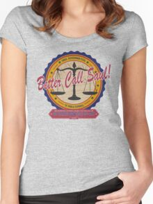 Breaking Bad Inspired - Better Call Saul - Albuquerque Attorney Parody Women's Fitted Scoop T-Shirt