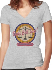 Breaking Bad Inspired - Better Call Saul - Albuquerque Attorney Parody Women's Fitted V-Neck T-Shirt