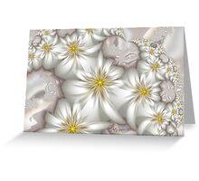 White Blooms Greeting Card