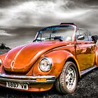 Classic orange VW Beetle by Ian Hufton