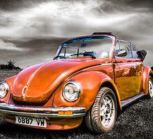 Classic orange VW Beetle by Ian Hufton