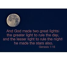 God Made Two Great Lights Photographic Print