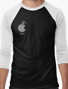iHac(k) - White Artwork Men's Baseball ¾ T-Shirt