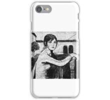 Tristeza Andaluza - after Julio Romero de Torres. iPhone Case/Skin