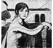 Tristeza Andaluza - after Julio Romero de Torres. Photographic Print