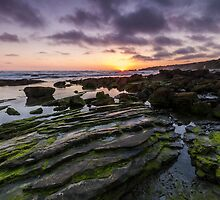 A Crystal Cove Sunset by Richard Thelen