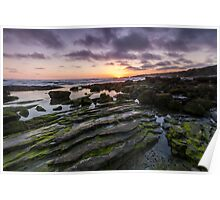 A Crystal Cove Sunset Poster