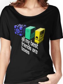 All My Best Friends Are Boxes Women's Relaxed Fit T-Shirt
