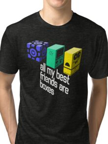 All My Best Friends Are Boxes Tri-blend T-Shirt