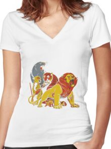 Real Thundercats Women's Fitted V-Neck T-Shirt