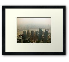 If only on a clear day.... Framed Print