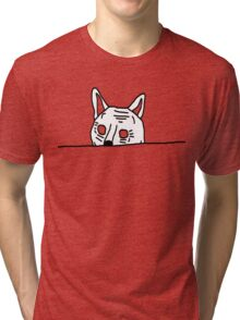 OLD FAT CAT is Looking Design Tri-blend T-Shirt