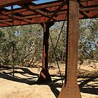 Joe Mortelliti Gallery - Ruins of a railway bridge, Old Ghan Railway, North Creek, South Australia. by thisisaustralia