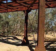 Joe Mortelliti Gallery - Ruins of a railway bridge, Old Ghan Railway, North Creek, South Australia. by thisisaustralia