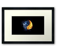 Ice & Fire Framed Print
