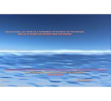 God Divided the Waters Photographic Print