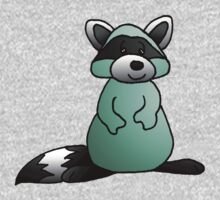 Green Raccoon One Piece - Long Sleeve