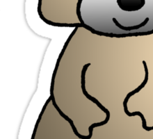 Brown Raccoon Sticker