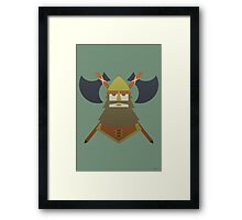 Hornless Viking Framed Print