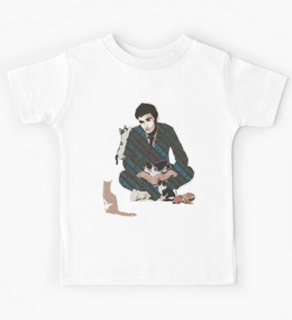 The Doctor and the Attack of Kittens Kids Tee