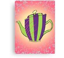 Green and Purple Teapot Canvas Print