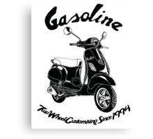 Gasoline Modern Scooter Illustration Canvas Print